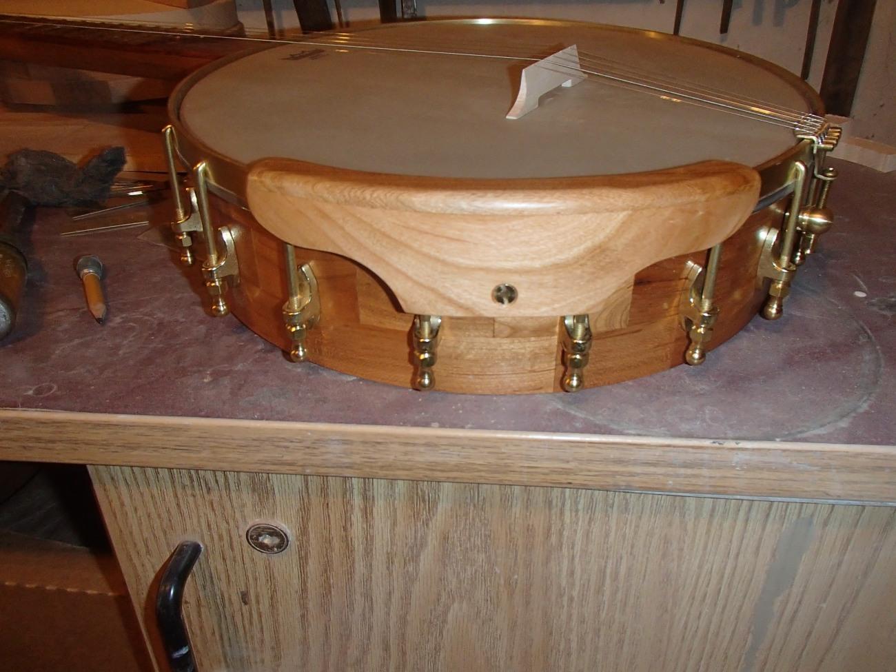 Making an armrest for banjo #44 – Zach Hoyt Banjos Etc